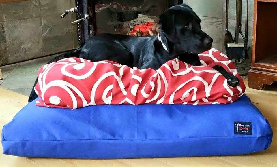 American made dog supply list: The Snugatti dog bed by Dog Crazy Designs | Made in Alaska