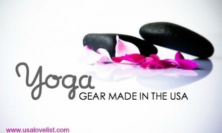 Yoga Supplies: All made in the USA. Namaste.