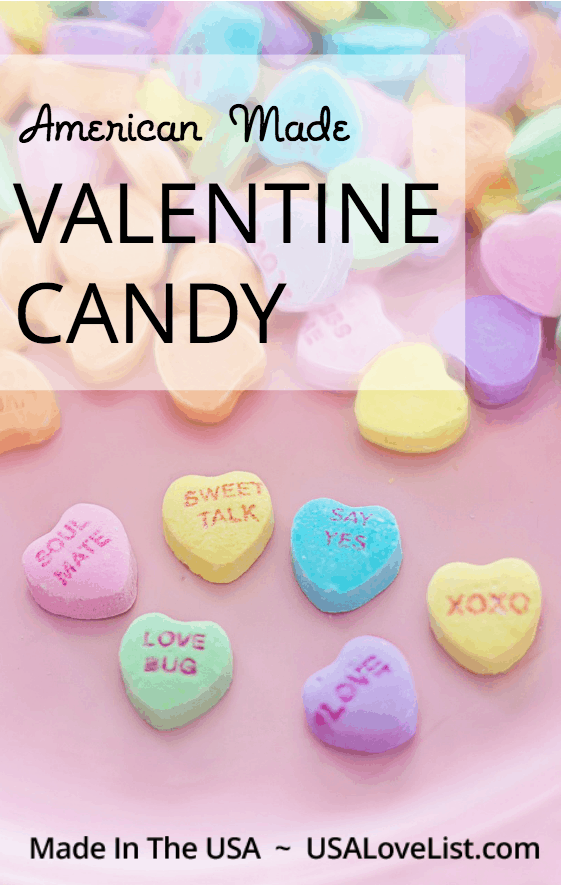 American made Valentine candy