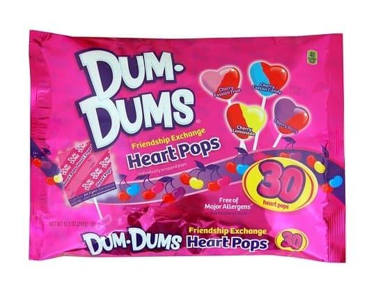 Valentine Candy: Dum-Dum Heart Pops #madeinUSA #usalovelisted #Valentine