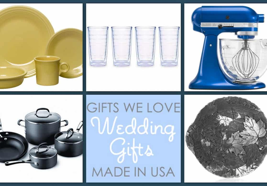 Wedding Gift List Usa : Wedding Gifts We Love, Made in the USA - USA Love List
