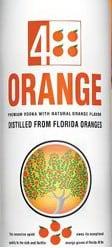 4 Orange Vodka made in Florida