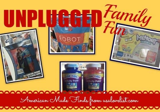 Four Favorite Made in USA Ways to Unplug Your Family and Have Fun