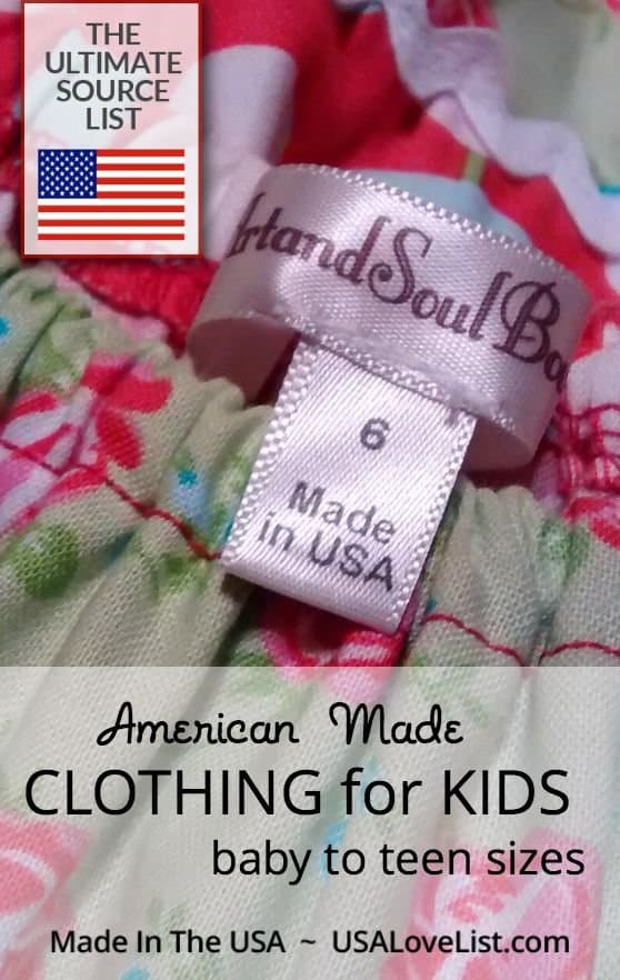 Made In Usa Clothing For Kids The Ultimate Source List