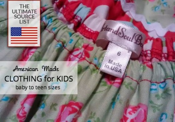 Clothing for kids made in USA
