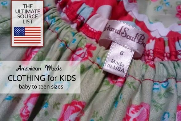 71207373156 Made in USA Clothing for Kids   The Ultimate Source List • USA Love List