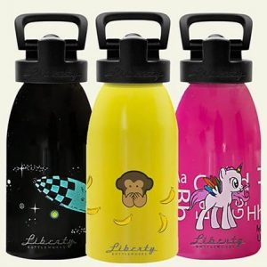 Made in USA lunch gear: Liberty Bottleworks kid size reusable water bottle #schoollunch #lunchgear #usalovelisted