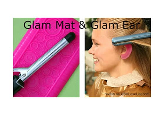 Clever Girl Innovations' Glam Ears & Glam Mat are Cool Gadgets for your Hot Tools {Made in USA Giveaway}