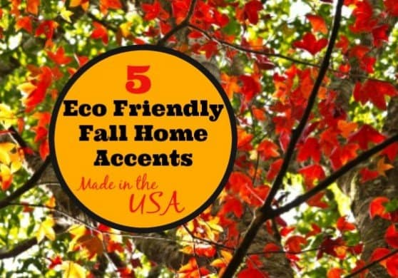 5 Eco Friendly Fall Home Accents #madeinUSA