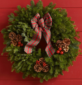 L.L. Bean holiday wreaths, made in Maine