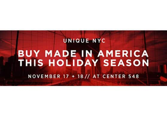 Just in time for Made in USA Holiday Shopping: Check out the Unique NYC Pop-Up Market