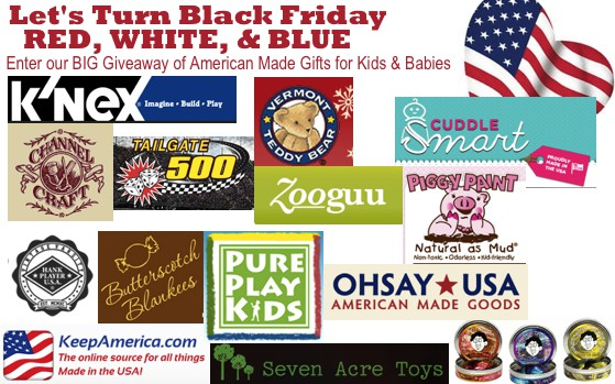 15 Prizes, 23 Blogs, Let's Band Together to Turn Black Friday Red, White, & Blue! {Giveaway}