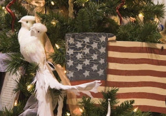 American Flag Christmas Tree