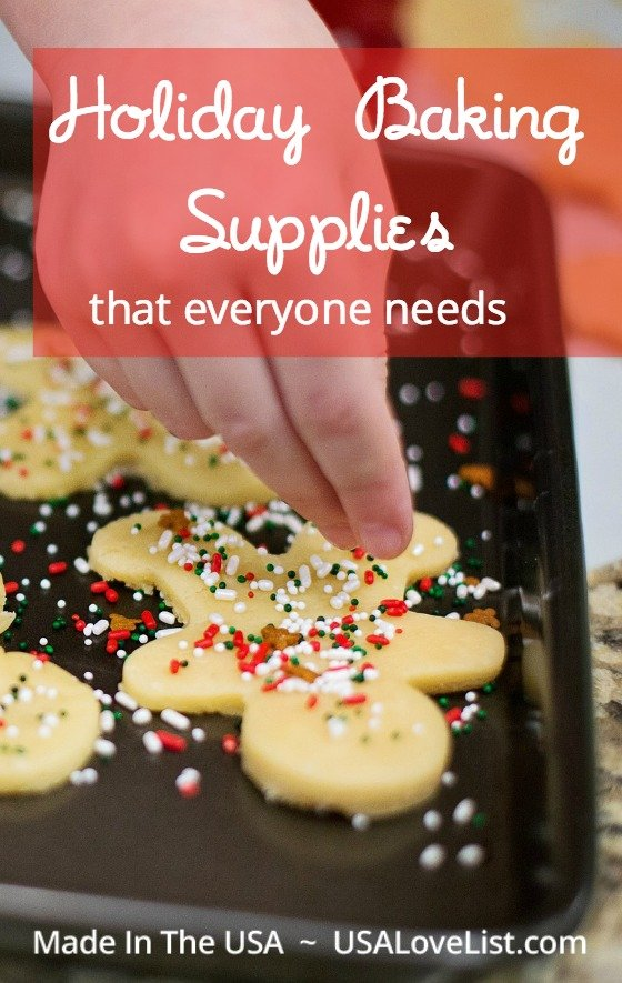 Holiday baking supplies Made in USA