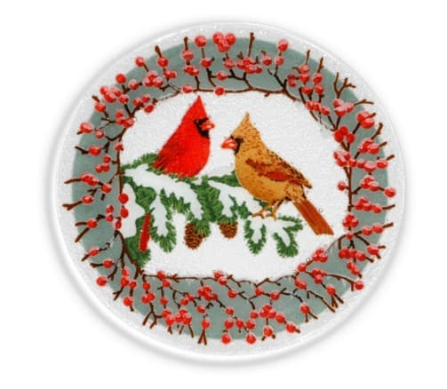Peggy Kerr handmade glass serving plates & platters   Made in USA   Christmas baking