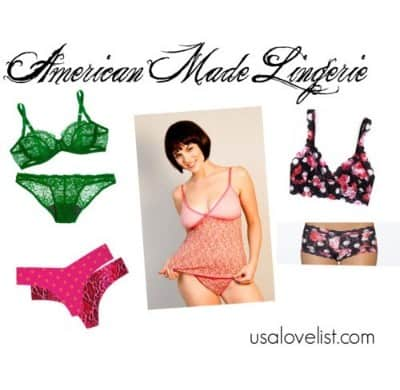 American Made Lingerie via USALoveList.com