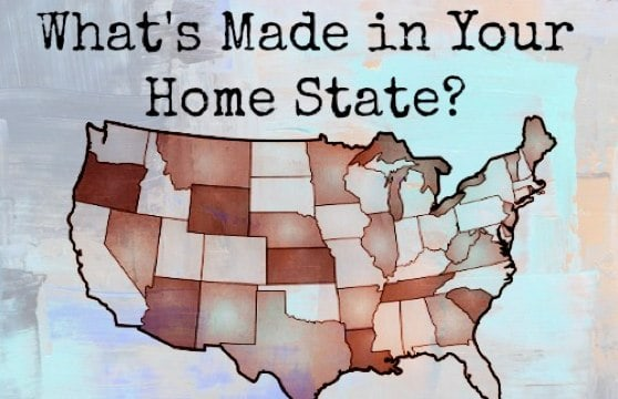 Ever wonder what made in the USA stuff comes from a particular state?  Just click on the state in the map below or browse by state name below the map.  Is a favorite from your home state missing? #USAlove
