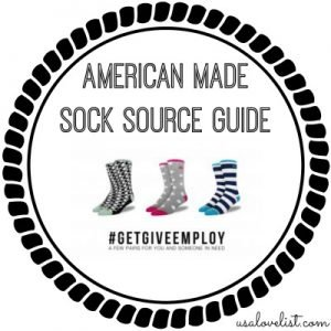 Made in USA Sock Brands via USALoveList.com