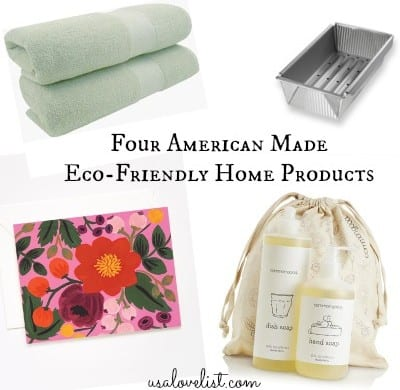 Four affordable made in usa eco friendly home goods all for Affordable home goods