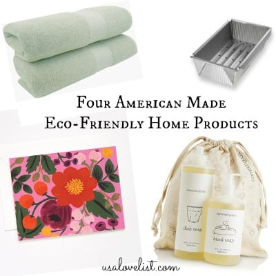 Four Affordable Made in USA Eco-Friendly Home Goods All Under $35