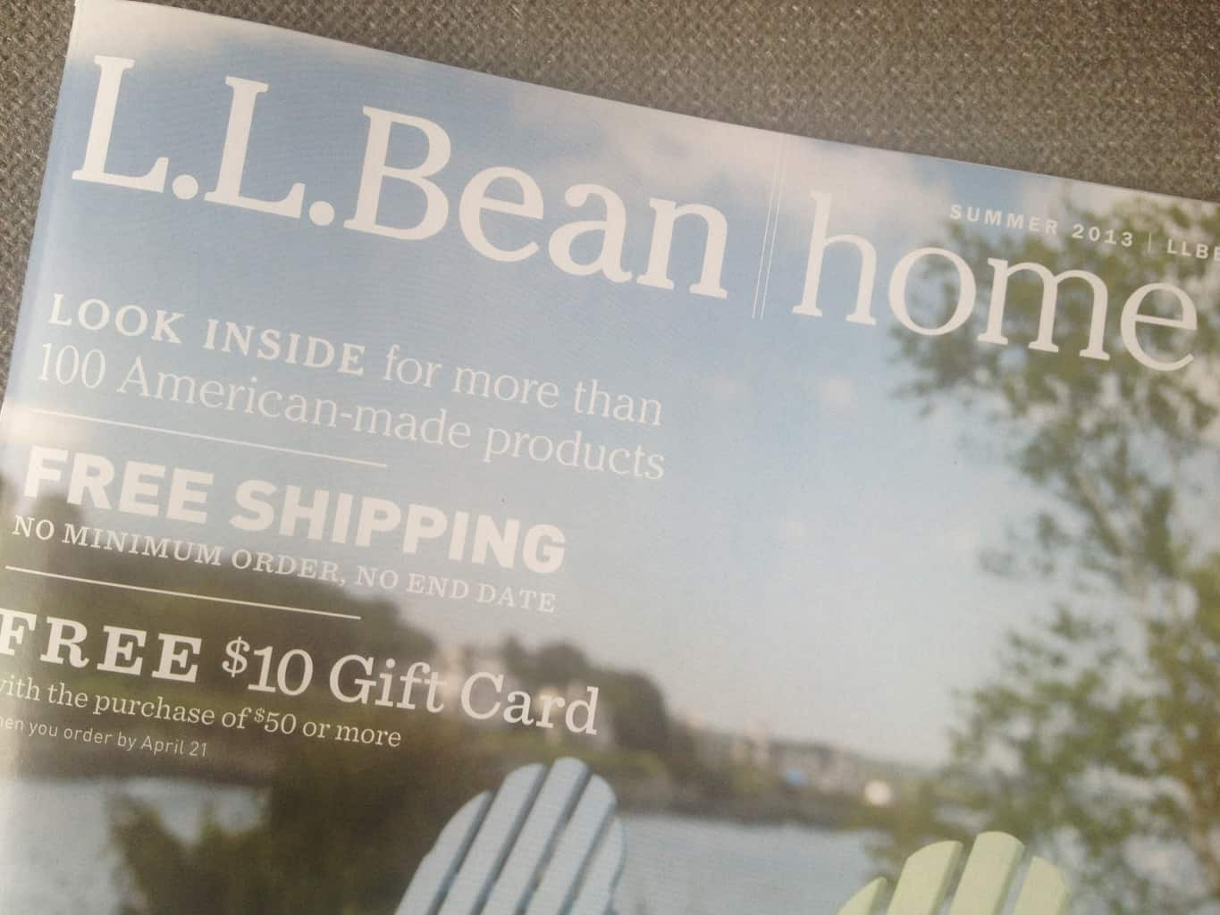 Getting Ready for Summer? Grab the LL Bean Home Catalog for Indoor & Outdoor Furniture Made in USA