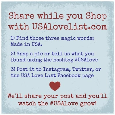 "Join the USA Love List team on the ""Share While You Shop"" #USAlove Campaign"