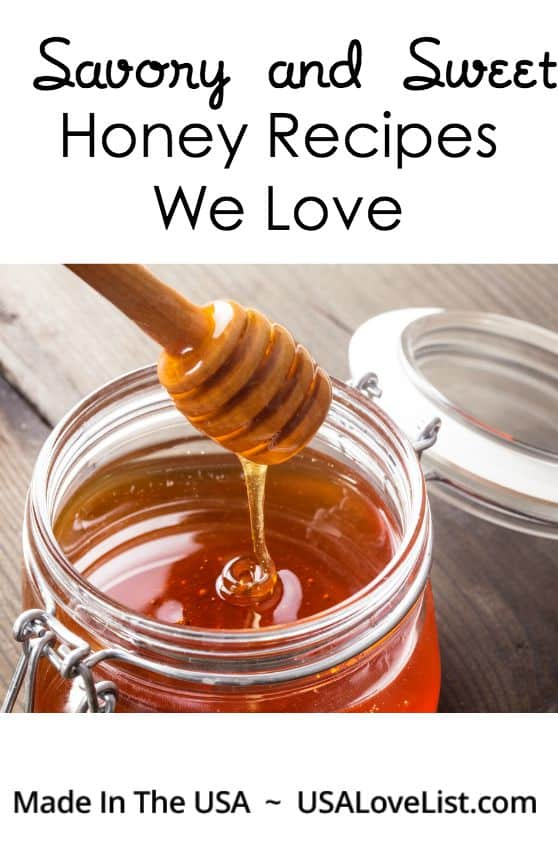 Sweet! - Honey Recipes For Every Meal and Occassion via USALoveList.com