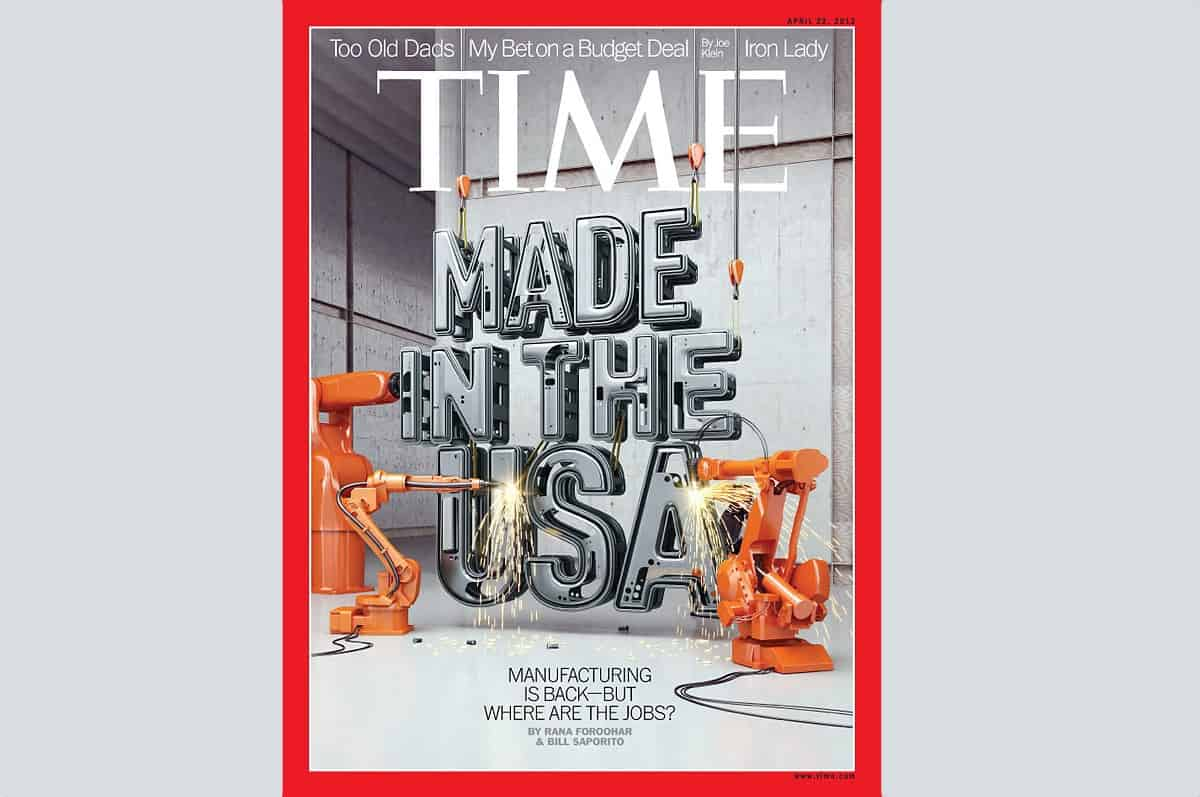 TIME Magazine's Cover Story Reports on the Comeback of American Manufacturing