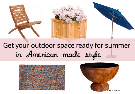 Summer patio, deck, and yard inspiration. LOVE these American made items!