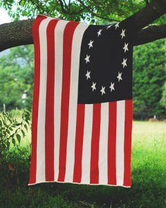 American Made Picnic Essentials | Betsy Ross American Flag Throw From Farm2Fashion | USALoveList.com