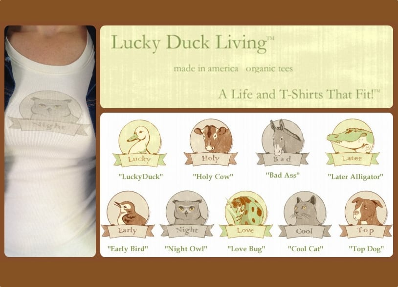 Lucky Duck Living's Clever Tees are a Perfect Fit, Made in the USA {Giveaway}