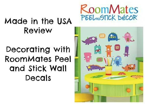 Made in the USA Review: Decorating with RoomMates Peel and Stick Decor