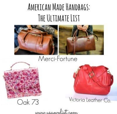 American Made Handbags on USALoveList.com
