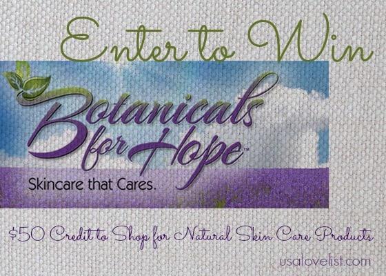 Natural Skin Care Giveaway: Botanicals for Hope