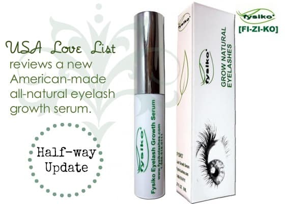 Fysiko Eyelash Serum:  Made in the USA Natural Eyelash Growth Serum