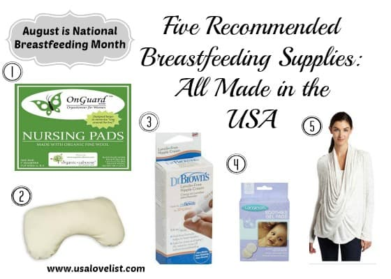 August is National Breastfeeding Month: Made in the USA Breastfeeding Supplies