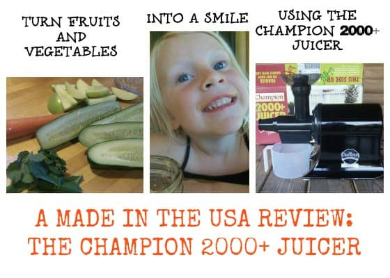 Make Healthy, Kid Friendly Drinks With the Champion 2000 Plus Made in the USA Juicer