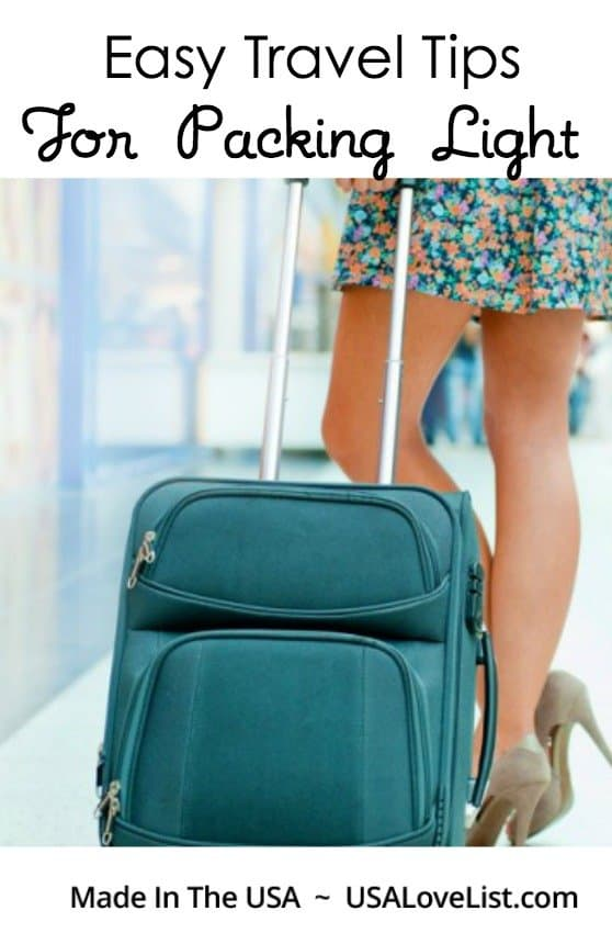Easy Travel Tips For Packing Light via USALoveList.com
