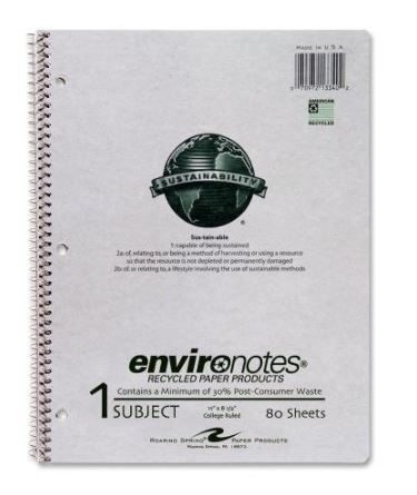 Eco Friendly school & office supplies: environotes notebooks #usalovelisted #madeinUSA #backtoschool #schoolsupplies