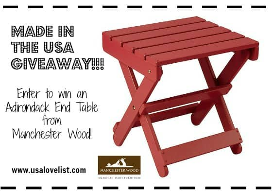 Giveaway: Manchester Wood Adirondack End Table