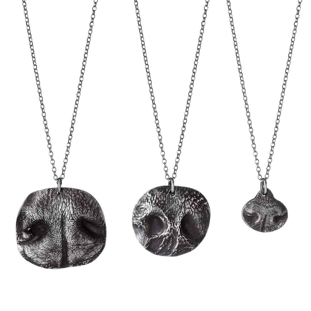 Dog nose print custom made necklaces | National Dog Day