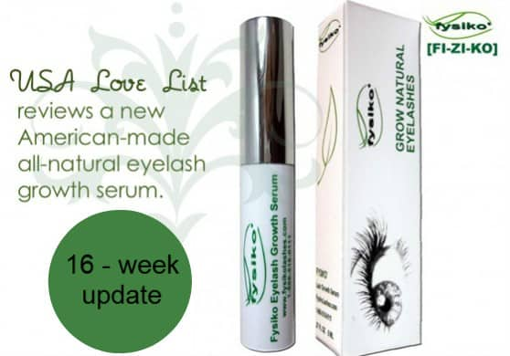 Fysiko Natural Eyelash Growth Serum:  16 Week Results Update and Review