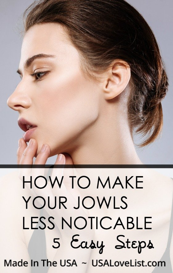 How to make your jowls less noticable
