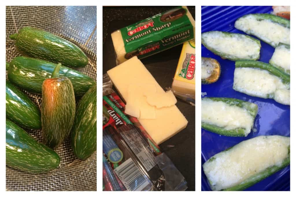 Grilled Cheddar Jalapeños Recipe with American made Cabot Cheese