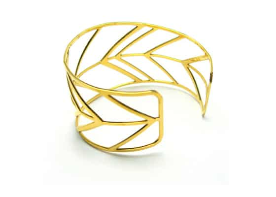 American Made Gifts: Chevron Cuff Bracelet Made in USA From Ecolustre Jewelry Site via USALoveList.com