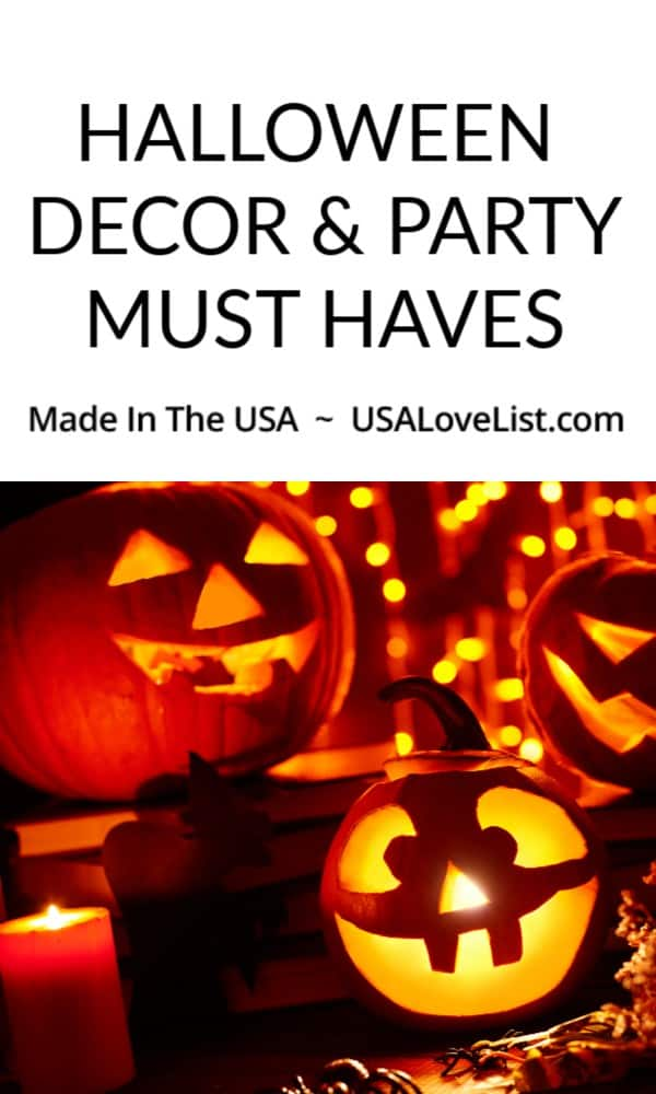 American made halloween decor and party must haves #usalovelisted #Halloween #party #madeinUSA