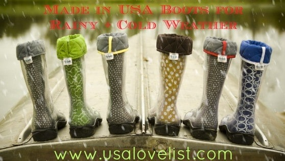 Made in USA Rainboots under $100