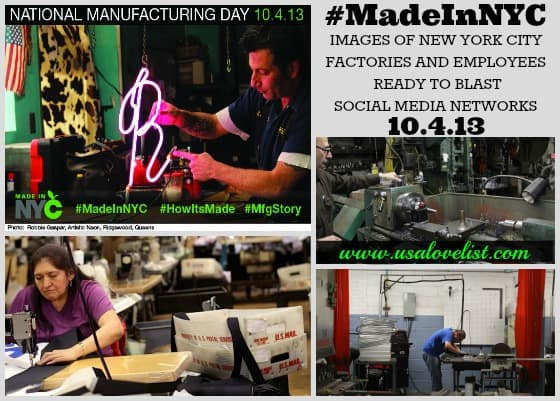 Manufacturing Day Social Media Event Set Friday Oct. 4 To Promote Made In NYC