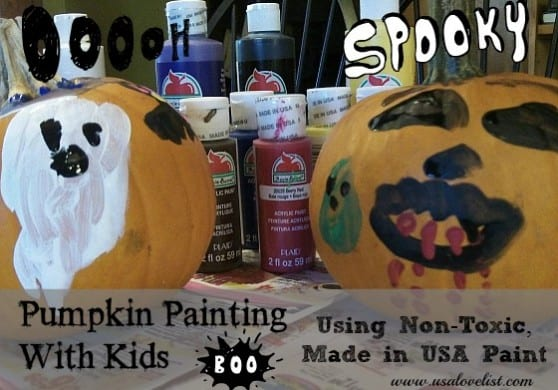 Pumpkin Painting With Kids
