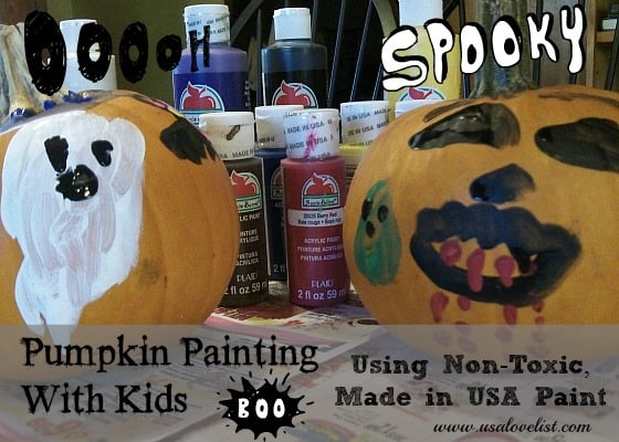 Pumpkin Painting With Kids: Using Non-Toxic, Made In USA Craft Paint